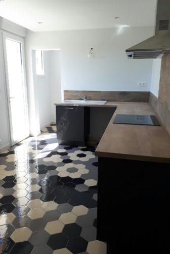 rénovation sol de cuisine à Montélimar